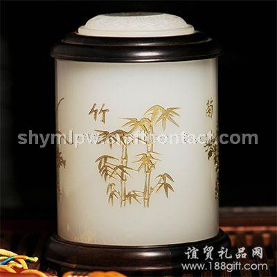 《梅兰竹菊》茶叶罐